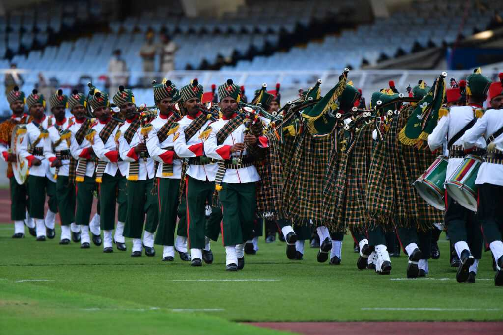 Armed Forces marches with glory at the opening ceremony of Durand Cup 2021